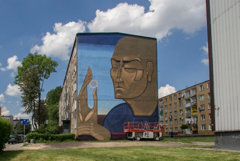 L skie murale lepsze ni banksy for Mural na tamie w solinie