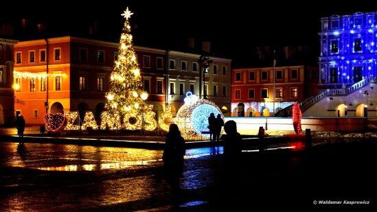 Zamość świąteczna Iluminacja 2017 2018