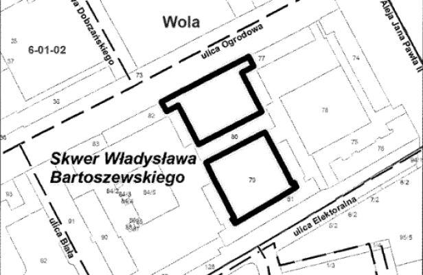 Tu będzie skwer prof. Bartoszewskiego UM Warszawa