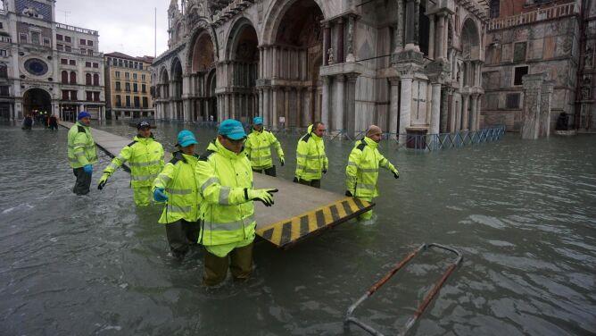 """""""Wysoka woda"""" znów nęka Wenecję"""