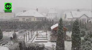 Opady śniegu w Szczecinie