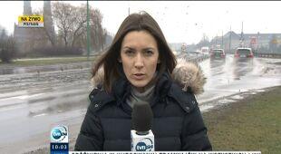 Warunki drogowe w Wielkopolsce (TVN24)