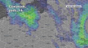 Prognozowane opady w ciągu pięciu dni (Ventusky.com)